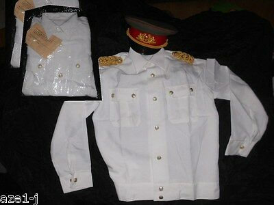 39-45 Original DDR General - Sommer Parade - Uniform Hemd Bluse weiss NVA Stasi