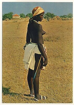 Angola NATIVE GIRL Humbe MÄDCHEN IN TYPISCHER KLEIDUNG * 60s Ethnic Nude PC