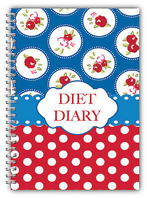 DIET FOOD DIARY SLIMMING  Weight Dieting TRACKER JOURNAL,Exercise A5  Red Spot