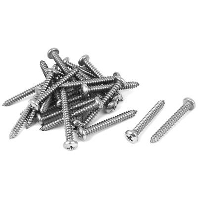 #8 M4.2x35mm Stainless Steel Phillips Round Pan Head Self Tapping Screws 25pcs