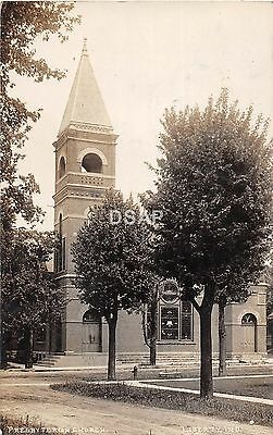 Indiana In Real Photo RPPC Postcard 1909 LIBERTY Presbyterian Church