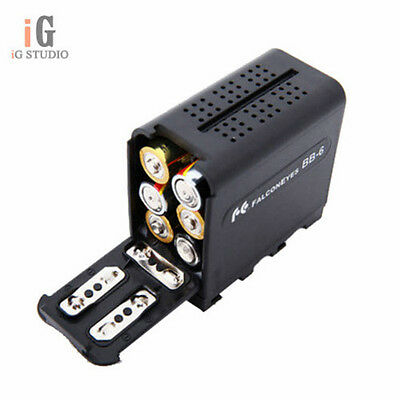 BB-6 AA Battery case for Rui Ying Yongnuo Pixel Aputure led lights