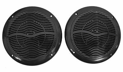"Pair Rockville RMC65B 6.5"" 600 Watt Waterproof Marine Boat Speakers 2-Way Black"