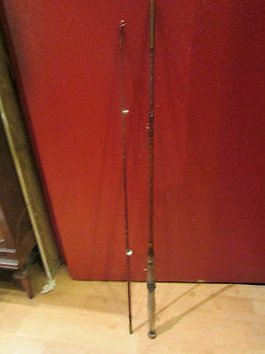 ancienne canne a peche bambou lancer truite