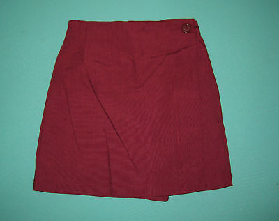 NEW Girls school uniform Skort Maroon size 5,6,8,10,12,14,16