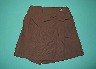 NEW Girls school uniform Skort Brown size 5,6,8,10,12,14,16