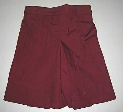 NEW School Uniform Culotte Skort Maroon size 5,6,8,10,12,14,16