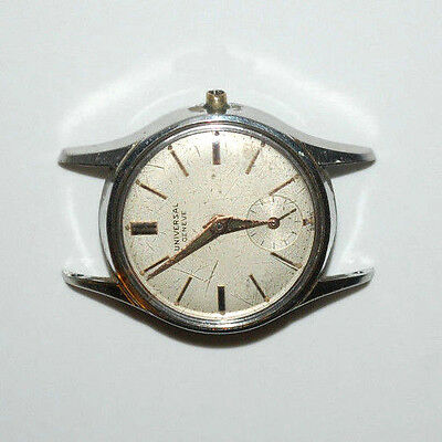 Vintage Universal Geneve Swiss 28801 Ladies Wrist Watch For Parts Sold As Is