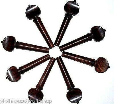 2 Sets: 8 Over Size 4/4 violin Rosewood  Peg  With Black Ball,  Lo Price