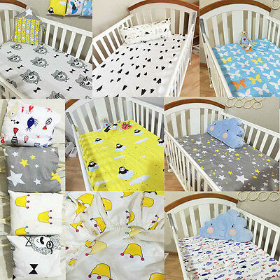 Newborn Boy Girl Bedding Sheet Toddler/Junior Bed Bumper Baby Cot Fitted sheets
