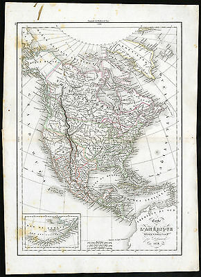 Antique Print-UNITED STATES-CANADA-MEXICO-CENTRAL AMERICA-Delamarche-1840