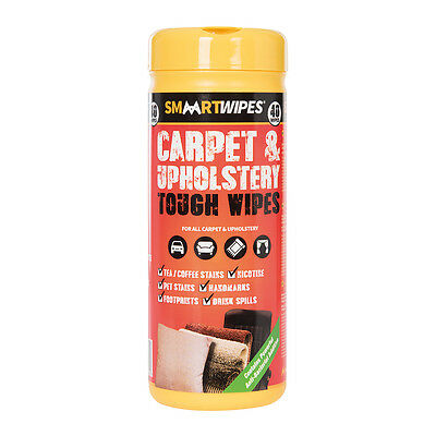 Smaart Heavy duty carpet and upholstery cleaning wipes 40 Pack 892745