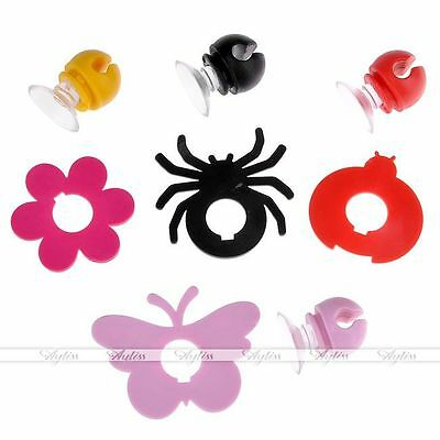 4x Cute Silicone Toothbrush Holder Home Wall Bathroom Hanger Suction Cup Storage