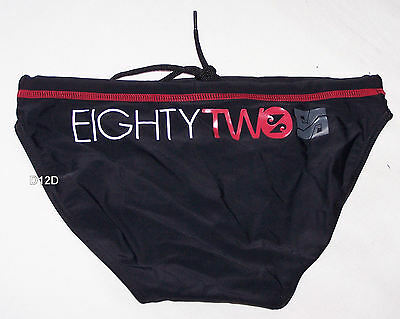 Mango Boys Black Print Racer Brief Bathers Size 12 New
