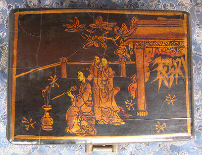 Antique Tibetan leather Wooden Box, Nepal