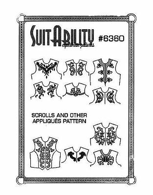 Horse & Western Shirt Scrolls & Appliques Suitability Sewing  Patterns 6360