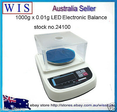 Digital Precision Analytical Balance 1000g x 0.01g, Lab Scale with RS232-24100