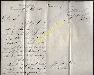 1865 Dumfries, Canonbie Colliery, Signed Alexander Bowie, Re Scotch Dyke Station