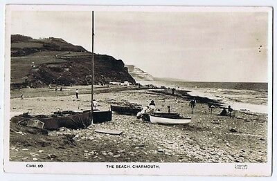 CHARMOUTH The Beach, RP Postcard by Frith Unused