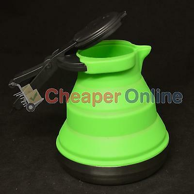 1 Litre Pop Up Folding Camping Kettle in Green