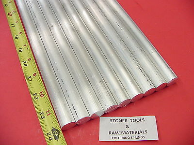 "9 Pieces 3/4"" ALUMINUM 6061 ROUND ROD 24"" long T6511 Solid New Lathe Bar Stock"
