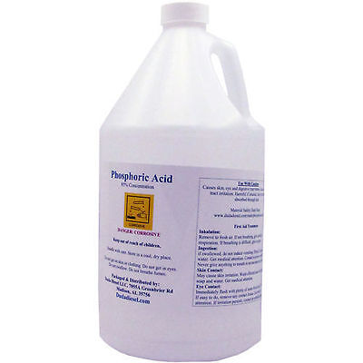 4 Gallons of 85% Food Grade Phosphoric Acid