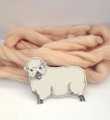 FLESH MERINO ROVING 50g / wool fibre / dyed wool tops / needle felting