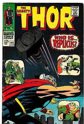 THE MIGHTY THOR #141 FN- 1st & Only Appearance of REPLICUS! Jack Kirby/Stan Lee!