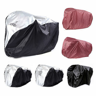 Nylon Waterproof Universal Bicycle Bike Rain Dust Cover Garage for 1/2/3 Bikes