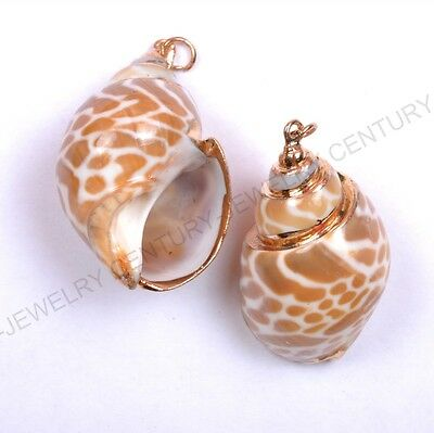 Wholesale Natural Shell Nice Charms Necklaces & Pendants 40X22MM
