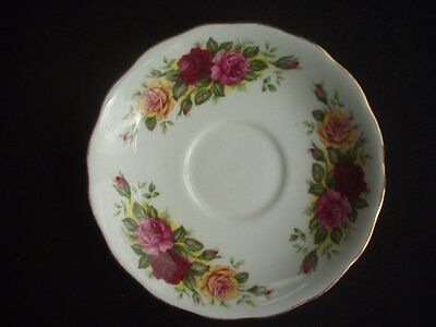 Royal Vale -Saucer -Rose Pattern With Gilding To The Rim