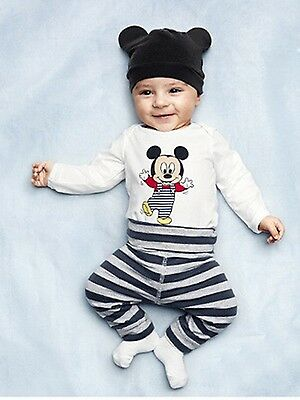 3pcs Baby Boy Girls Kids Infant Romper Bodysuit Outfit Clothing Set for Mickey