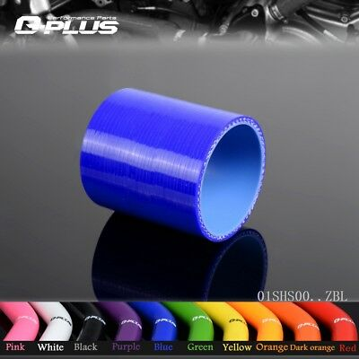 "3"" 76mm Silicone Straight Hose coupler Turbo Intercooler Pipe Hoses Blue"