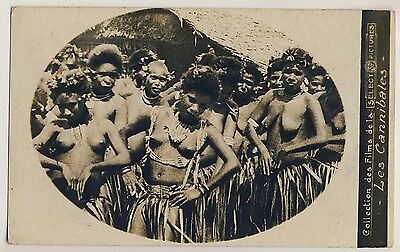Pacific Islands Movie LES CANNIBALES Native Nude Woman * Vintage Photo PC 1969 ?