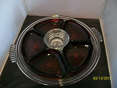 Anchor Hocking, Manhattan, Relish Tray With Inserts