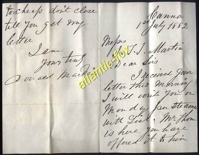 1882 Island of CANNA, letter from Donald MacNeil re; Sale of Island to R.Thom