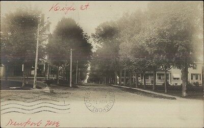 Newport ME High St. c1905 Real Photo Postcard