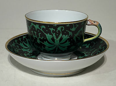 Herend Teacup and Saucer Fancy 03464-2-00 PVI Snake Handle Master Painter Piece
