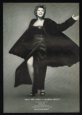 1970 Rita Hayworth Photo Blackglama Mink Fur Coat Fashion Vintage Print Ad