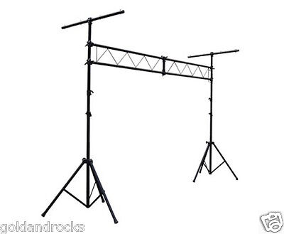 Stage Light Truss Tripod Lighting Stand Rack Height adjustment Strong Steel Blac