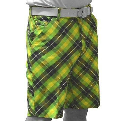Royal and Awesome Originale Pantaloncini Da Golf (Plaid Electric)