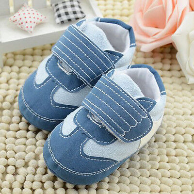 Newborn Toddler Baby Boy Girl Soft Sole Crib Shoes Infant Sneakers 0-18 Months