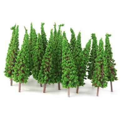 50 Light Green Trees Model Train Railroad Wargame Diorama Park Scenery HO OO