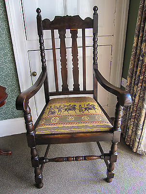 Edwardian Chair Crafted in Solid Oak • £95.00