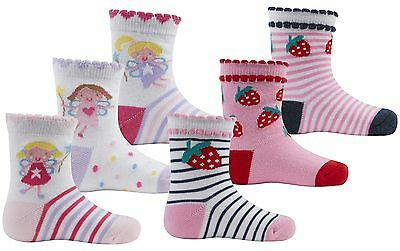 Zest Baby Girls Fun Character Cotton Rich Design Socks