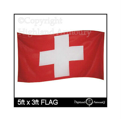 5' x 3' SWITZERLAND SWISS NATIONAL FLAG FOOTBALL LARGE