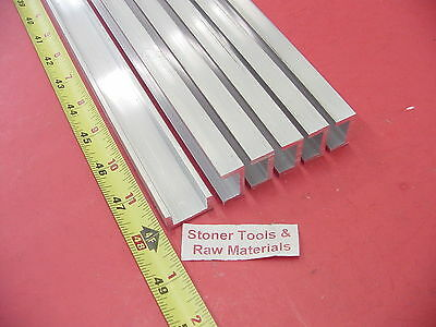 "6 Pieces 1""x 1/2"" ALUMINUM CHANNEL 6063 X 1/8"" Wall 48"" long T52 Mill Stock 24'"