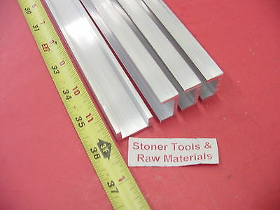 "4 Pieces 1""x 1/2"" ALUMINUM CHANNEL 6063 X 1/8"" Wall 36"" long T52 Mill Stock 12'"