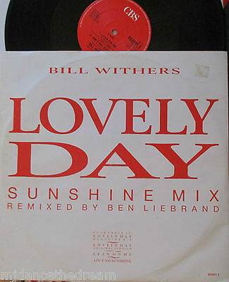 "BILL WITHERS ~ Lovely Day ~ 12"" Single PS"