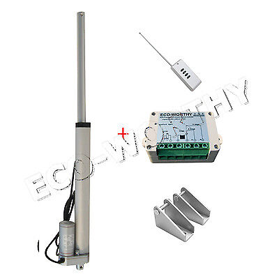 """10"""" Heavy Duty Linear Actuator 12V 1500n=330 lbs Motor with Remote Control"""